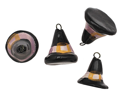Jangles Ceramic Witches Hat Charm 18-19x19-23mm