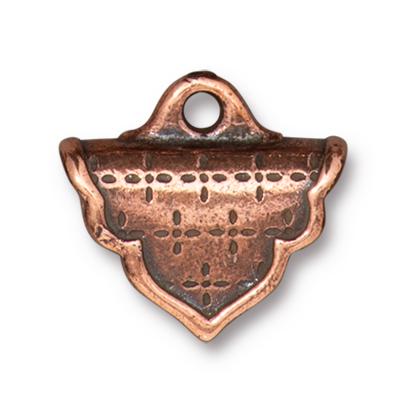TierraCast Antique Copper (plated) Marrakesh Crimp End 17x18mm