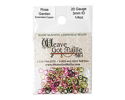 Rose Garden Mix Enameled Copper Round Jump Ring 4.5mm, 20 gauge