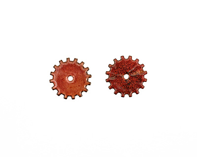 C-Koop Enameled Metal Ruby Red Closed Gear 19mm