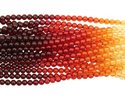 Resin Amber Round 6mm