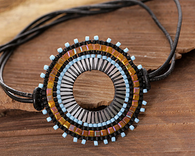 Fire and Ice Hand Woven Radiant Focal 44x42mm