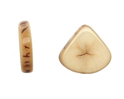 Tagua Nut Parchment Banana Chip 22-29x16-22mm