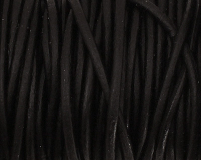 Natural Black Round Leather Cord 1.5mm
