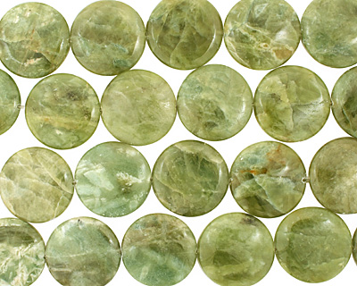 Light Green Garnet Puff Coin 30mm