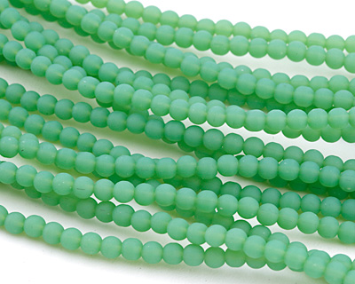 Opaque Seafoam Green Recycled Glass Round 4mm
