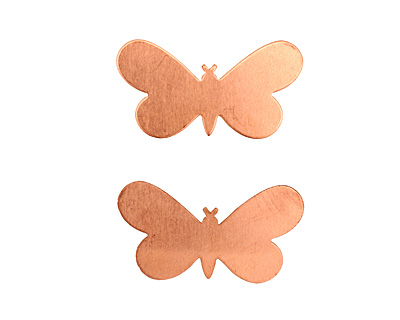 Copper Butterfly Blank 32x19mm