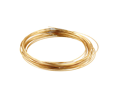 German Style Wire Non Tarnish Brass Square 24 gauge, 4 meters
