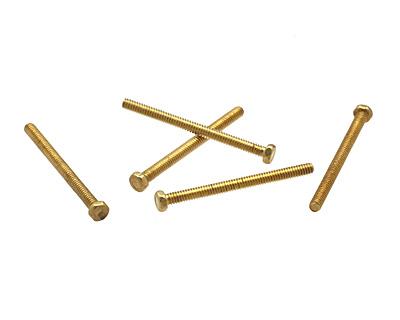 Brass Hex Head Machine Screw 0-80x3/4