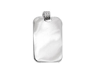 Silver (plated) Lipped Rectangle Bezel 15x28mm
