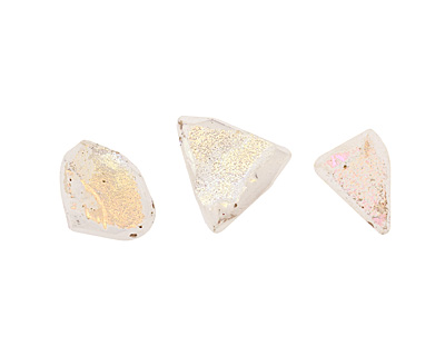 Druzy (metallic pearl) Faceted Freeform Drop 14-20x14-23mm