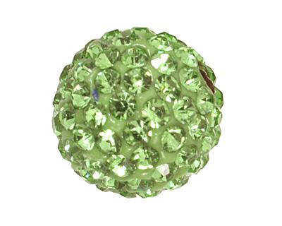 Peridot Pave Round 12mm