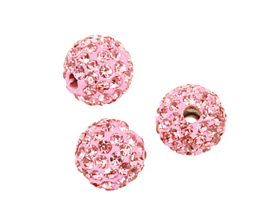 Flamingo Pave Round 8mm