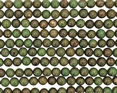 Green Chalcopyrite Round 6mm