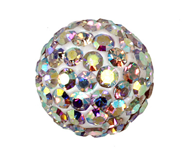 Crystal AB Pave Round 10mm (1.5mm hole)