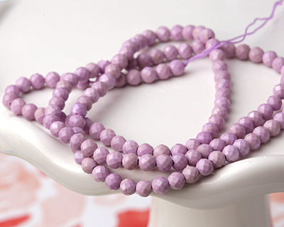 Kunzite Faceted Round 3mm