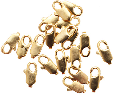 Satin Hamilton Gold (plated) Lobster Clasp 12x5mm