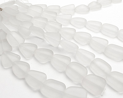 Crystal Recycled Glass Flat Freeform 21-23x18-20mm