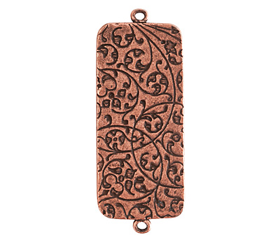 Nunn Design Antique Copper (plated) Traditional Rectangle Bezel Pendant Link 48x18mm
