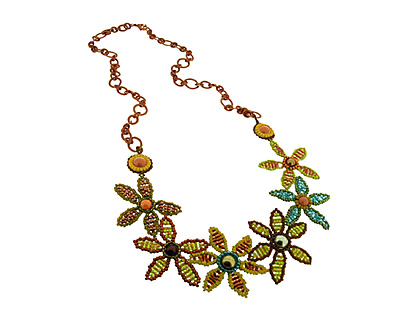 Glass Garden Zinnia Posey Necklace Kit