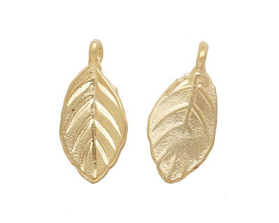 Ezel Findings Gold (plated) Sweet Bay Leaf 7x15mm