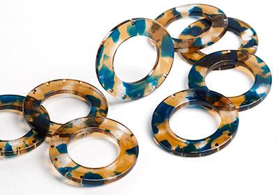Zola Elements Tide Pool Acetate Donut Chandelier 38mm