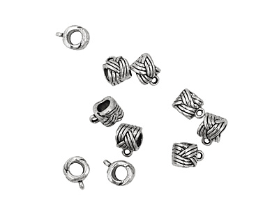 Pewter Knot Bail (Large Hole) 8x11mm
