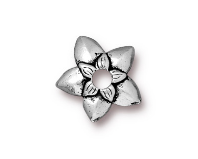 TierraCast Antique Silver (plated) Star Jasmine Rivetable 12mm