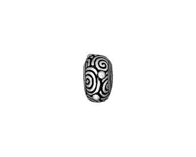 TierraCast Antique Silver (plated) Spiral Euro 6x12mm