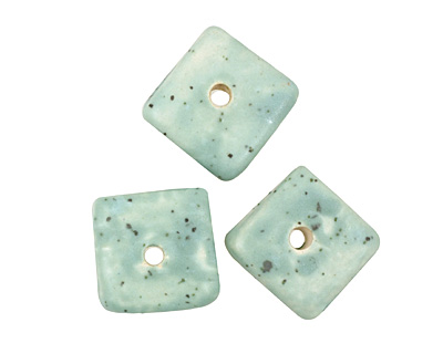 Jangles Ceramic Eggshell Small Square Disc 15mm
