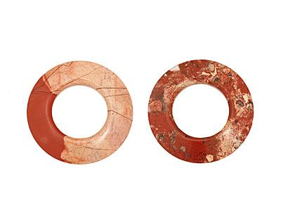 Red Bend Jasper Donut 55mm