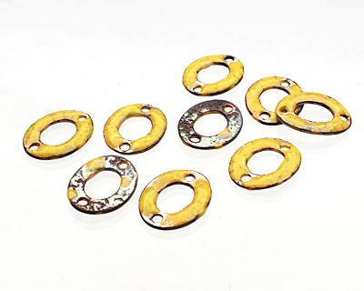 C-Koop Enameled Metal Buttercup Yellow Small Oval Link 18-20x15-16mm