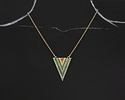 Zola Elements Antique Gold (plated) Mountain Meadow Arrow Pendant 27x37mm