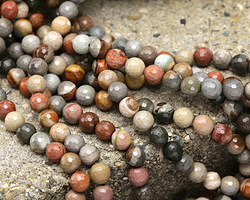 Polychrome Jasper Faceted Round 8mm