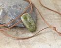 Chalcopyrite Drop Pendant (large hole) 27x53mm