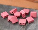 Rose Enamel 2-Hole Tile Square Bead 8mm