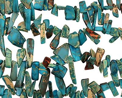 Turquoise Impression Jasper Stick 8-12x20-43mm