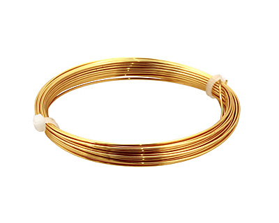German Style Wire Gold Color Round 20 gauge, 6 meters