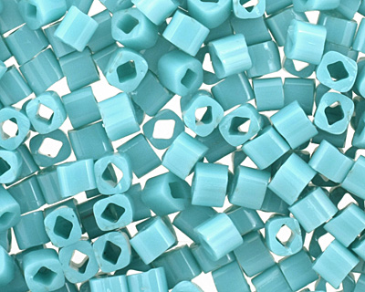 TOHO Opaque Turquoise Cube 1.5mm Seed Bead