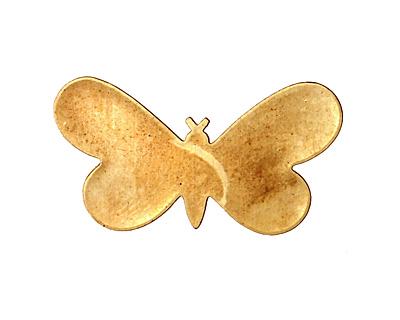 Brass Butterfly Blank 32x19mm