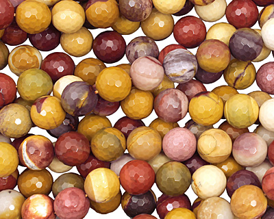 Mookaite Faceted Round 14mm