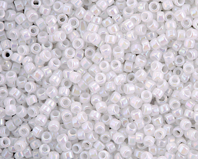 TOHO Opaque Rainbow White Round 15/0 Seed Bead