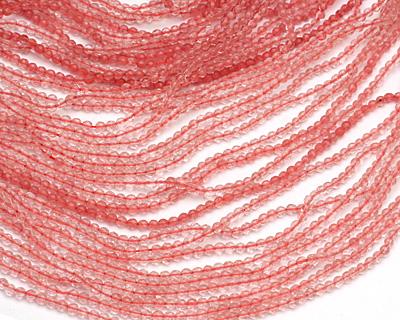 Cherry Quartz Faceted Round 3mm