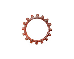 C-Koop Enameled Metal Wisteria Purple Open Gear 19mm