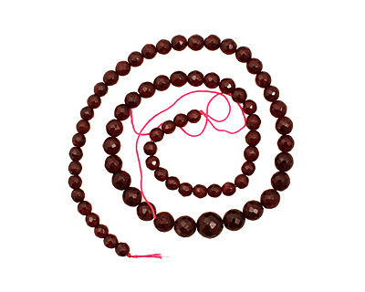 Garnet Faceted Round Graduated 6-10mm