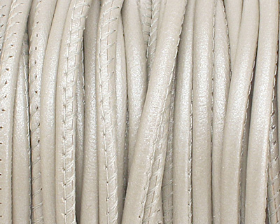 Pearl (metallic) Stitched Nappa Round Leather Cord 2.5mm