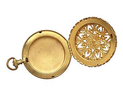 Brass Round Timepiece Heirloom Locket 45x60mm