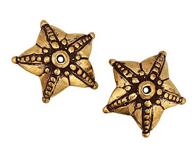 Green Girl Bronze Star Bead Cap 9x25mm