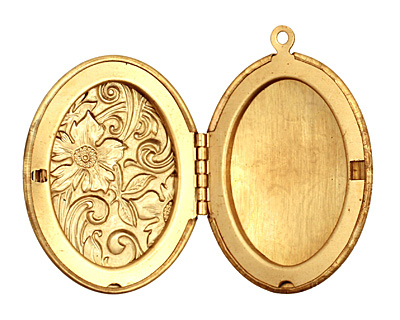 Brass Oval Garden Heirloom Locket 33x47mm