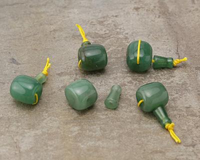 Green Aventurine Barrel Guru Bead 14mm